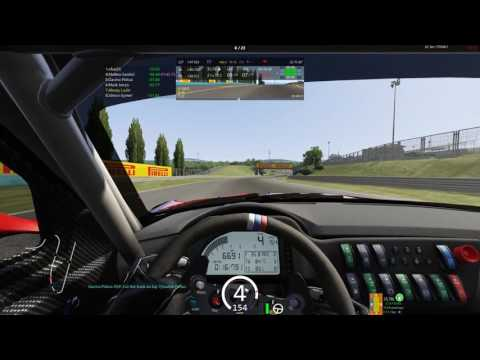UKAC GT3 R8 Hungaroring q6-r6. Soft was dead but finished race)
