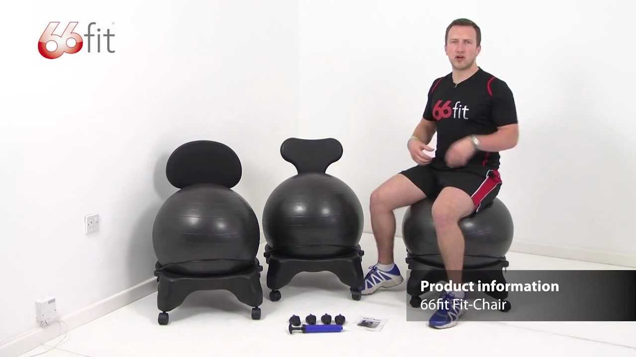 Gym Ball Chair Green Office Chairs Uk Fit 66fit Youtube