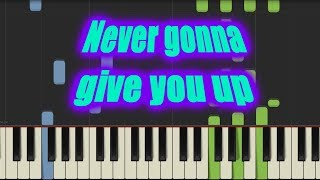 Never gonna give you up - Rick Astley | Synthesia version