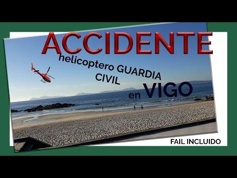 tortazo del helicoptero de la guardia civil en samil(vigo)