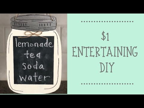 DOLLAR TREE DIY  |  MASON JAR MENU CHALKBOARD