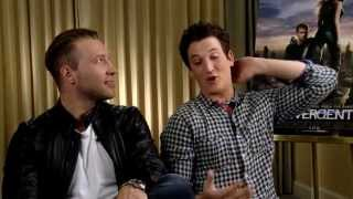 Divergent Interview: Miles Teller & Jai Courtney Talk Heart-throb Status and Fears