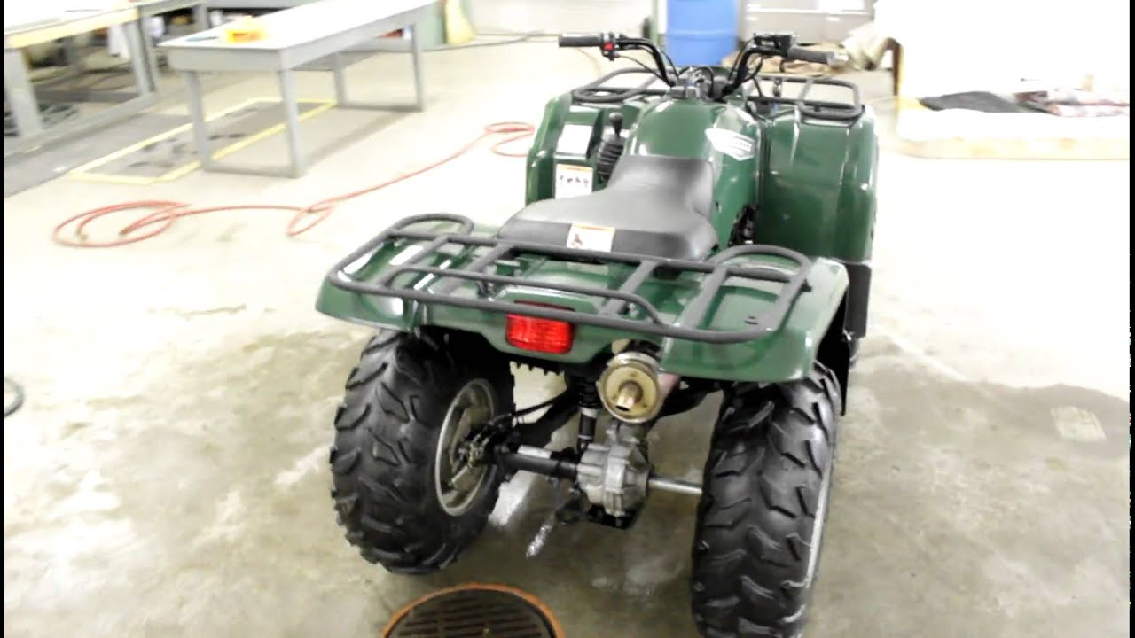 2007 yamaha grizzly 350 running video