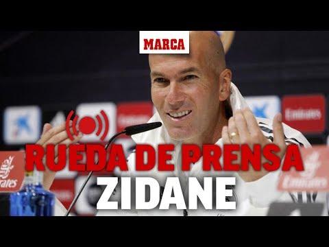 Rueda de prensa de Zidane, en directo   MARCA