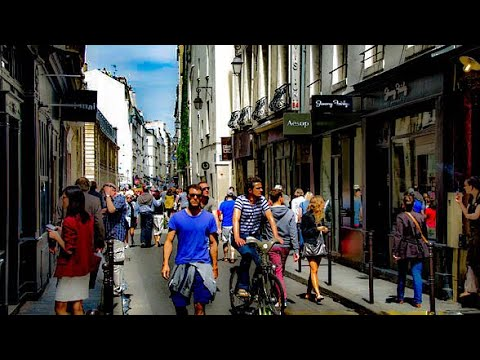 A Walk Down Rue Vieille-du-Temple, Le Marais, Paris