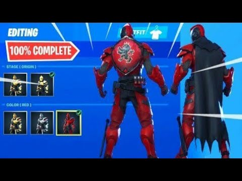 NEW FORTNITE RED ULTIMA KNIGHT REVIEW LIVE