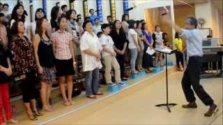 Seeds scattered and sown. OLPS Cantate Domino Choir 2014-07-13