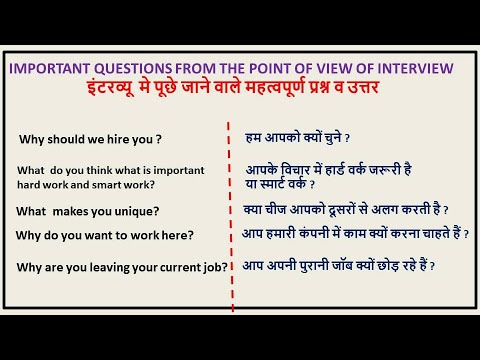 Download Important Questions With Answers For Interview (Hindi)