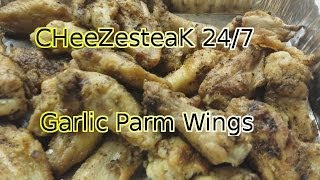 Barbeque Garlic Parmesan Chicken Wings