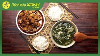 Thanh tịnh mùa Vu Lan với MÂM CƠM CHAY cho 4 người ăn chỉ với 40K | Vào bếp cùng Bách hóa XANH