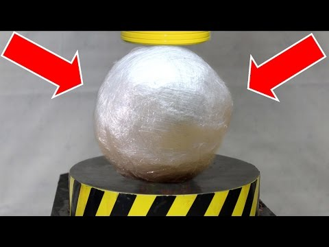 Thumbnail: EXPERIMENT HYDRAULIC PRESS 100 TON vs PLASTIC WRAP BALL
