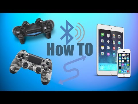 PS4 Controller To Ipad/Iphone (WIRELESS!) Easiest way!