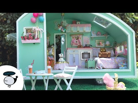 Carnival Camper Doll House Miniature ✩ DIY Time Travel Trailer Kit