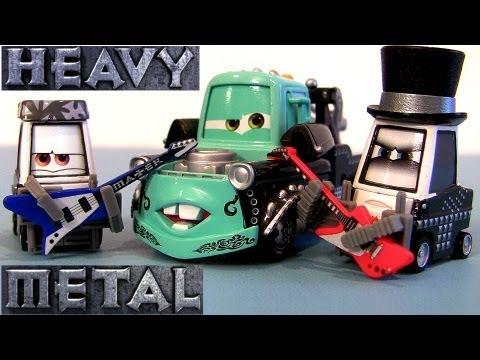 New Disney Cars Toon 3 Pack Heavy Metal Mater Rocky Eddie Die Cast Set