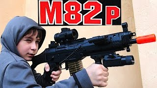 aeg electric m82 assault rifle airsoft gun with robert andre