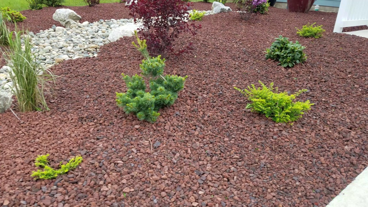Low Maintenance Landscaping in Ferndale WA | Lava Rock | Shrubs | River Rock - Low Maintenance Landscaping In Ferndale WA Lava Rock Shrubs