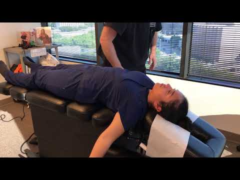Houston Chiropractor Dr Gregory Johnson Adjust Lady With Plantar Fasciitis Head To Toe