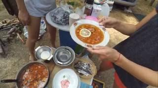 Солянка с колбасой на костре(Как приготовить солянку с колбасой на костре., 2016-09-06T09:05:25.000Z)