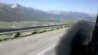 Cummins Diesel vs Bicyclist