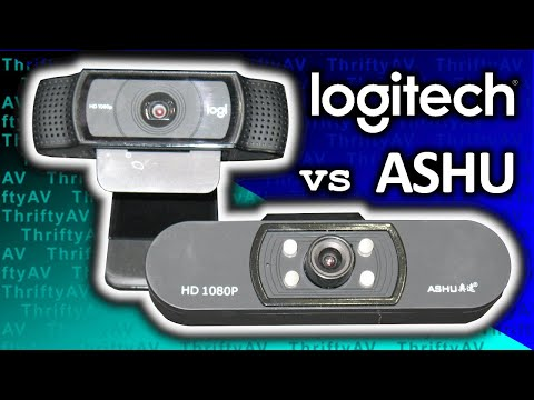 Webcam Price Gouging?!  The Affordable ASHU HD 1080p Compared To The Logitech C920 Pro!