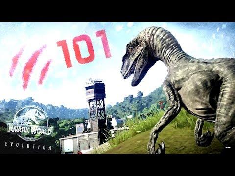 Jurassic World Evolution - OVER 100 RAPTORS ATTACK! - 100 Raptors vs 8000 Civilians (JWE Gameplay)