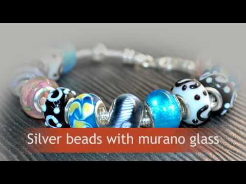 Silver Murano Beads Bracelets. ELF925 is sterling silver manufacturer and wholesaler from Bangkok