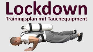 Lockdown Trainingsplan mit Tauchequipment