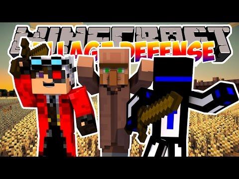 Minecraft Village Defense : Защитим жителей от зомби! #1