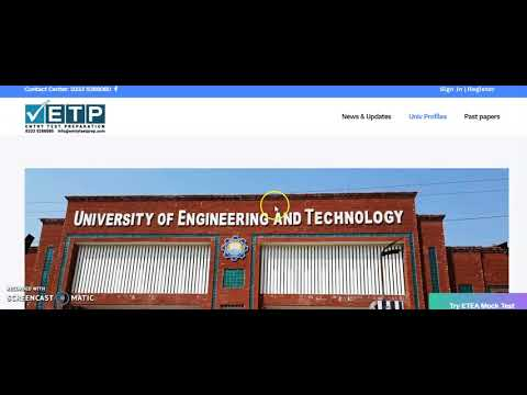 NUST Entry Test Guide Line For Undergraduate Admissions