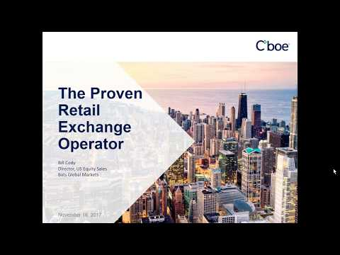 Cboe/BATS:  The Proven Retail Exchange Operator