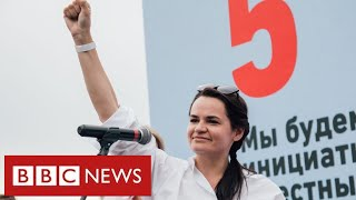 "Belarussian opposition leader flees country after ""rigged election"" - BBC News"