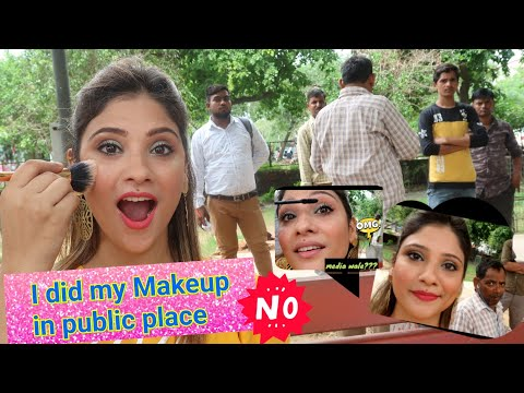 Makeup challenge In public place ||🤯🤯 OMG logo ne Kya kya bola thumbnail