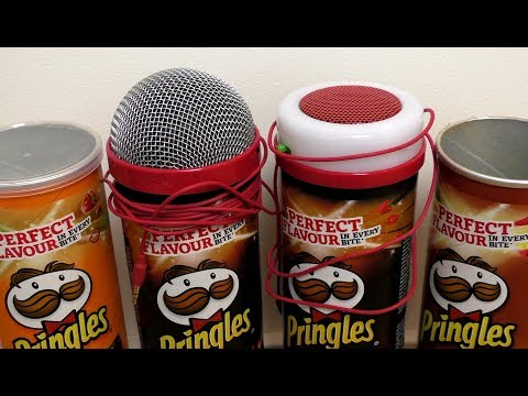 Pringles Microphone and Speaker [Karaoke KIT]