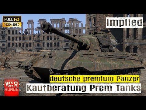 War Thunder Tutorial #02 Kaufberatung deutsche Premium Panzer HD