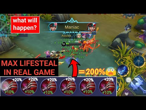 MAX LIFESTEAL   6 Haas's Claws in real game   mobile legends