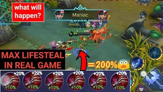 MAX LIFESTEAL | 6 Haas's Claws in real game | mobile legends
