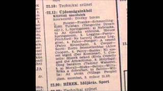 Újdonságainkból.Külföldi táncdalok.Szerkesztő:Divéky István.1982.11.10.Petőfi rádió.22.13-23.00.