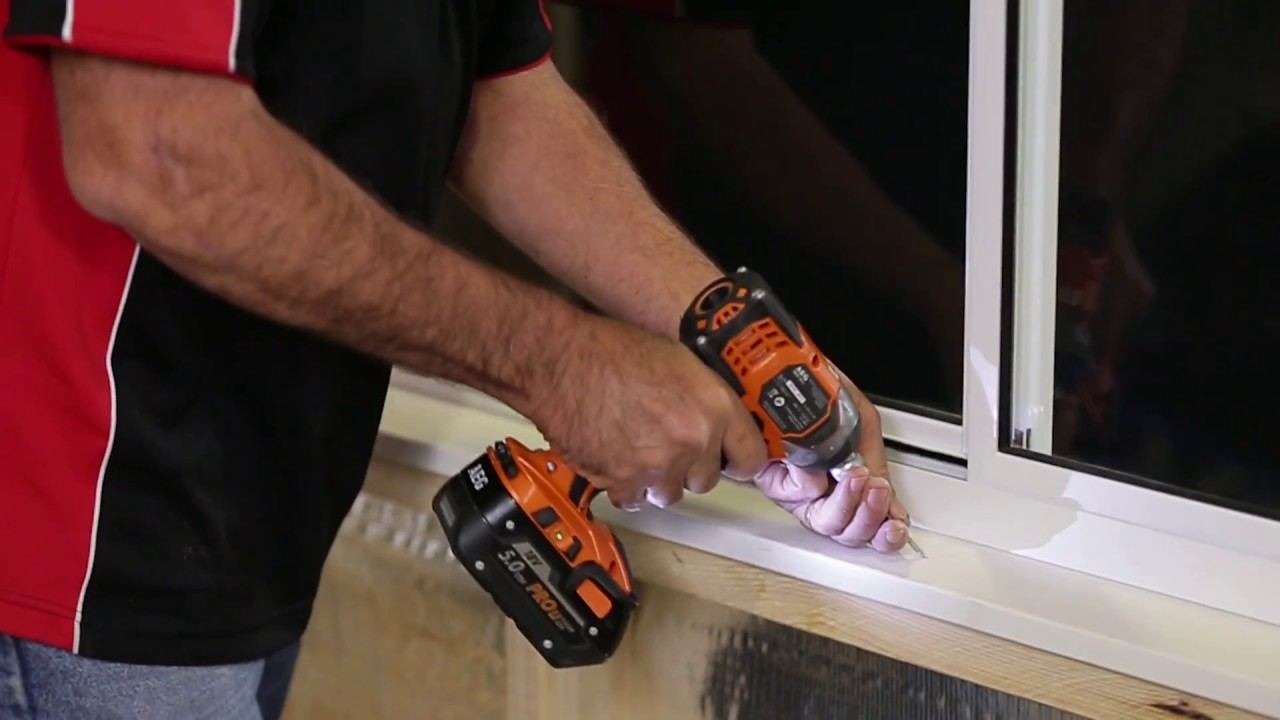 How To Install An Aluminium Sliding Window Into Brick Veneer Construction