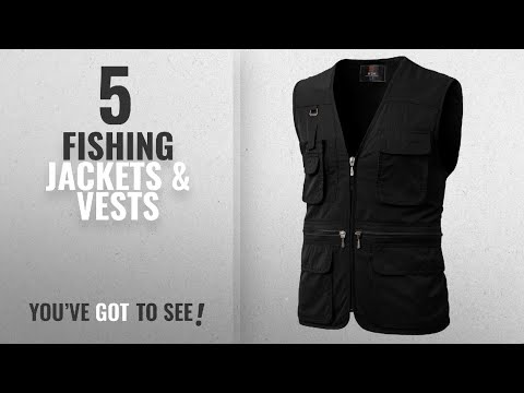 Top 10 Fishing Jackets & Vests [2018]: H2H Men's Casual Work Utility Hunting Travels Sports Vest