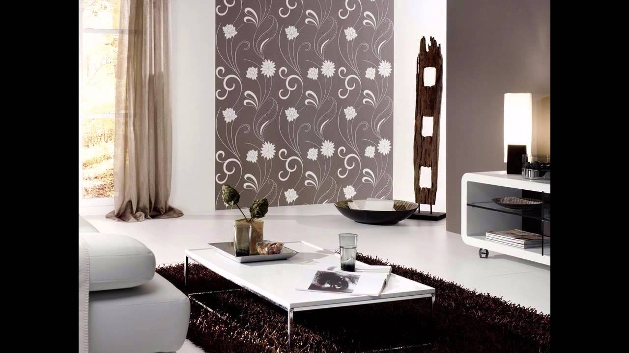 Best wallpaper for drawing room decorating ideas youtube for Front room feature wallpaper