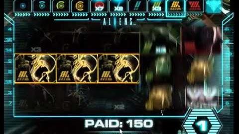 Aliens online slot, big feature. Inc queen end game.