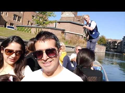 Cambridge UK Vlog | Punting Tour| Day In Cambridge