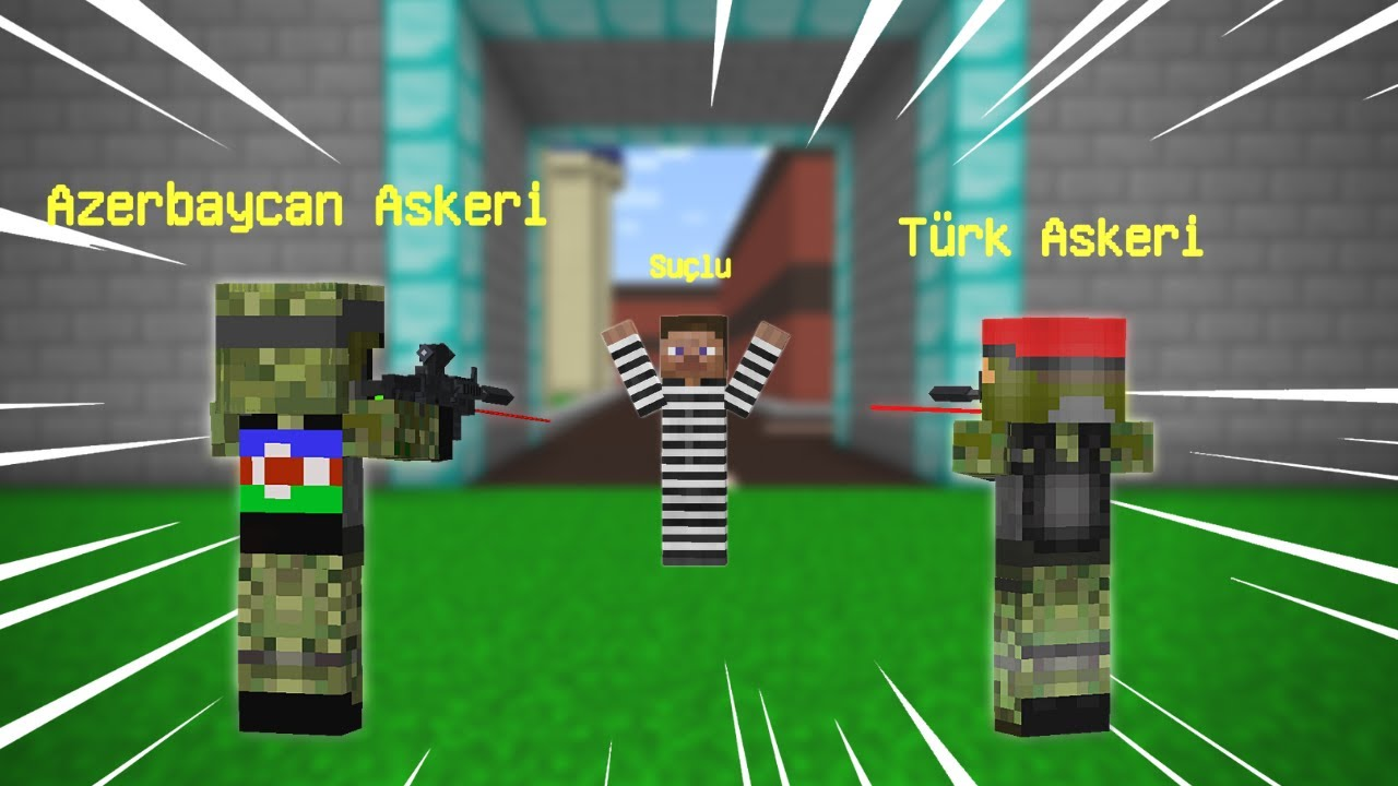TÜRK ASKERİ VE AZERBAYCAN ASKERİ SUÇLULARLA ÇATIŞIYOR! 😱 - Minecraft
