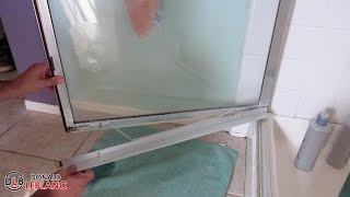 Fixing a leaky shower door