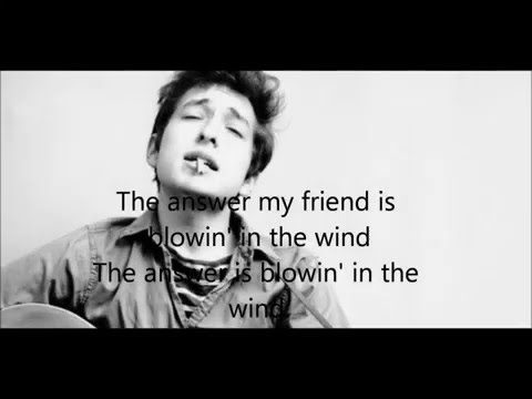 Blowin' In The Wind -Bob Dylan - Lyrics