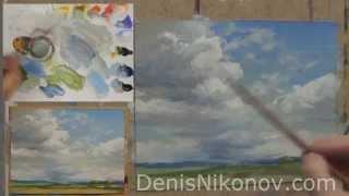 Урок по живописи. Как нарисовать кучевое облако маслом