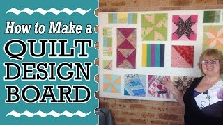 How to Make a Quilt Block Design Board - DIY Tutorial