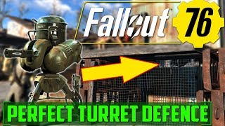 C.A.M.P.S - Perfect Turret Defence - Fallout 76 - Base Building Prep