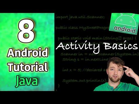Android App Development Tutorial 8 - Activity Basics | Java thumbnail