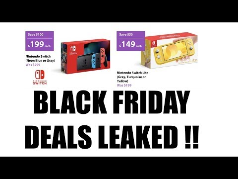 2019 Black Friday Deals Leaked For Nintendo Switch